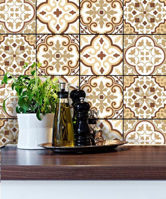 wall tile vinyl decal sticker for kitchen bath stair-riser