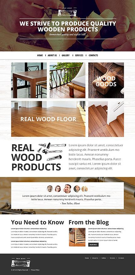 Bootstrap Website Templates Template 53442  Woodworking Responsive Bootstrap Website Template