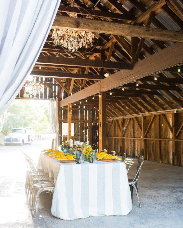 Barn Wedding Reception Decor: Modern + Rustic Wedding Reception Decor