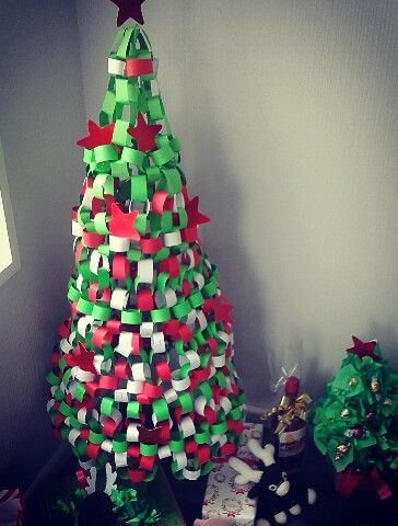 Paper Chain Tree Paper Chains Holiday Christmas