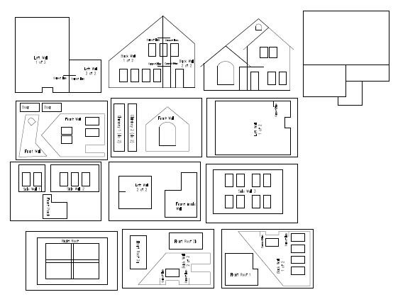 Cardboard House Patterns | The house is, as you can see, quite ...