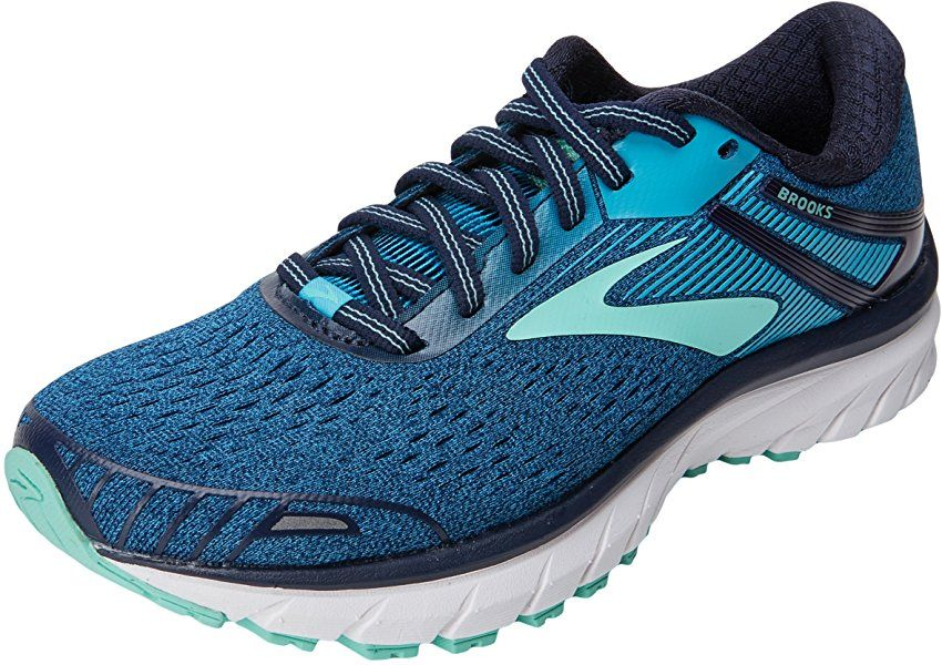 Brooks Women S Adrenaline Gts 18 Running Shoes Color Navy Teal Mint Size 8 Womens Running Shoes Brooks Running Shoes Running Shoes