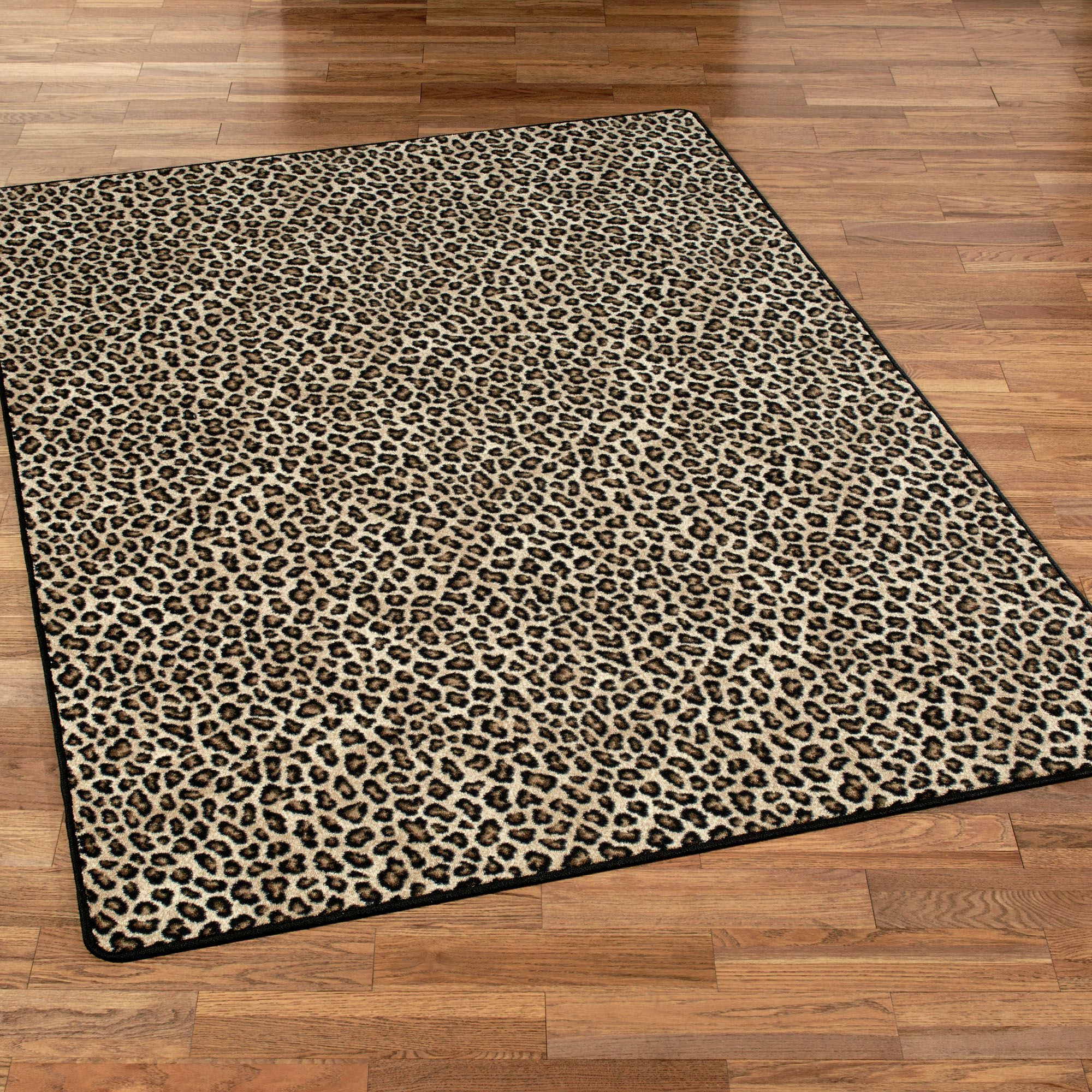 Exotic Journey Leopold Leopard Print Area Rugs