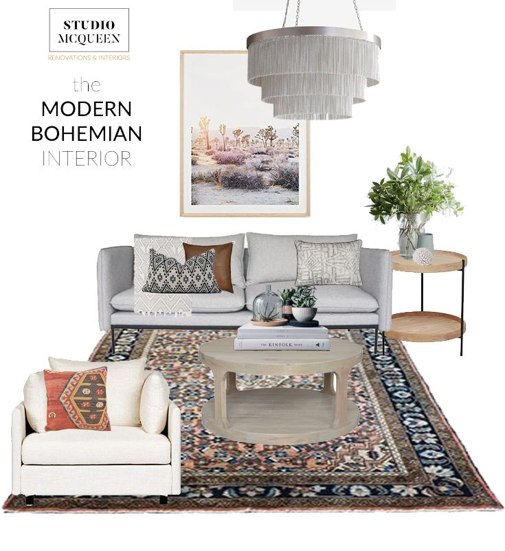 The modern bohemian home on the blog at Studio McQueen Interior