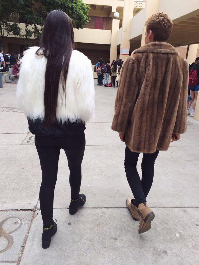 Fur coat Girl fashion, Fashion, Urban fashion