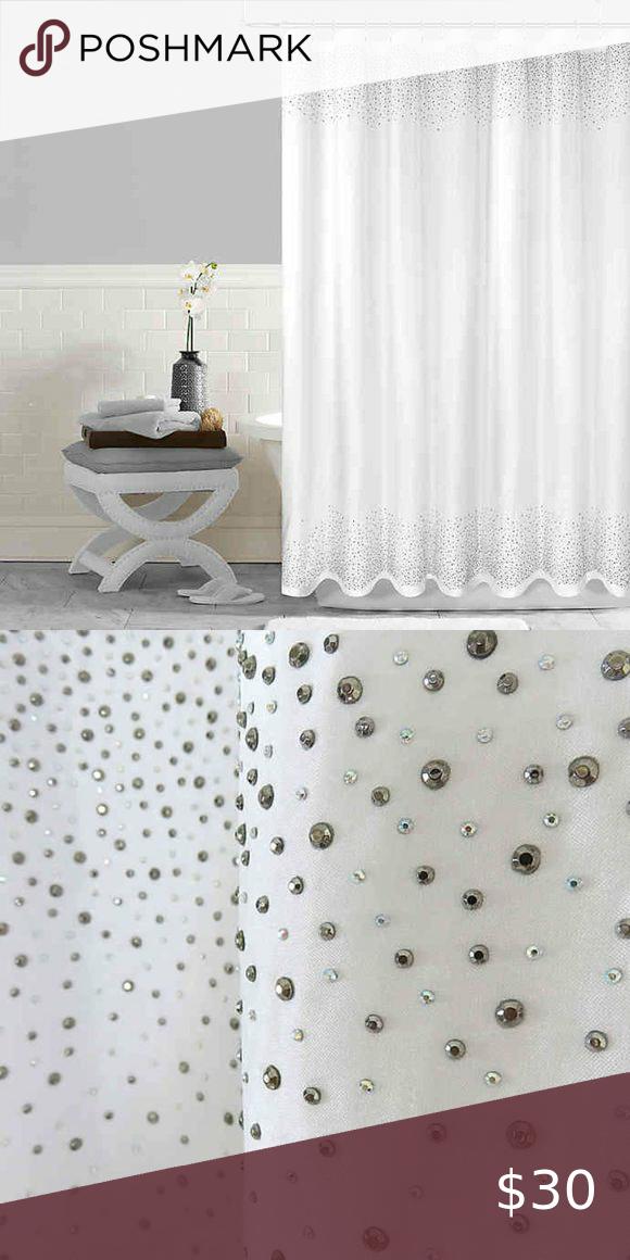 silver beade twilight shower curtain