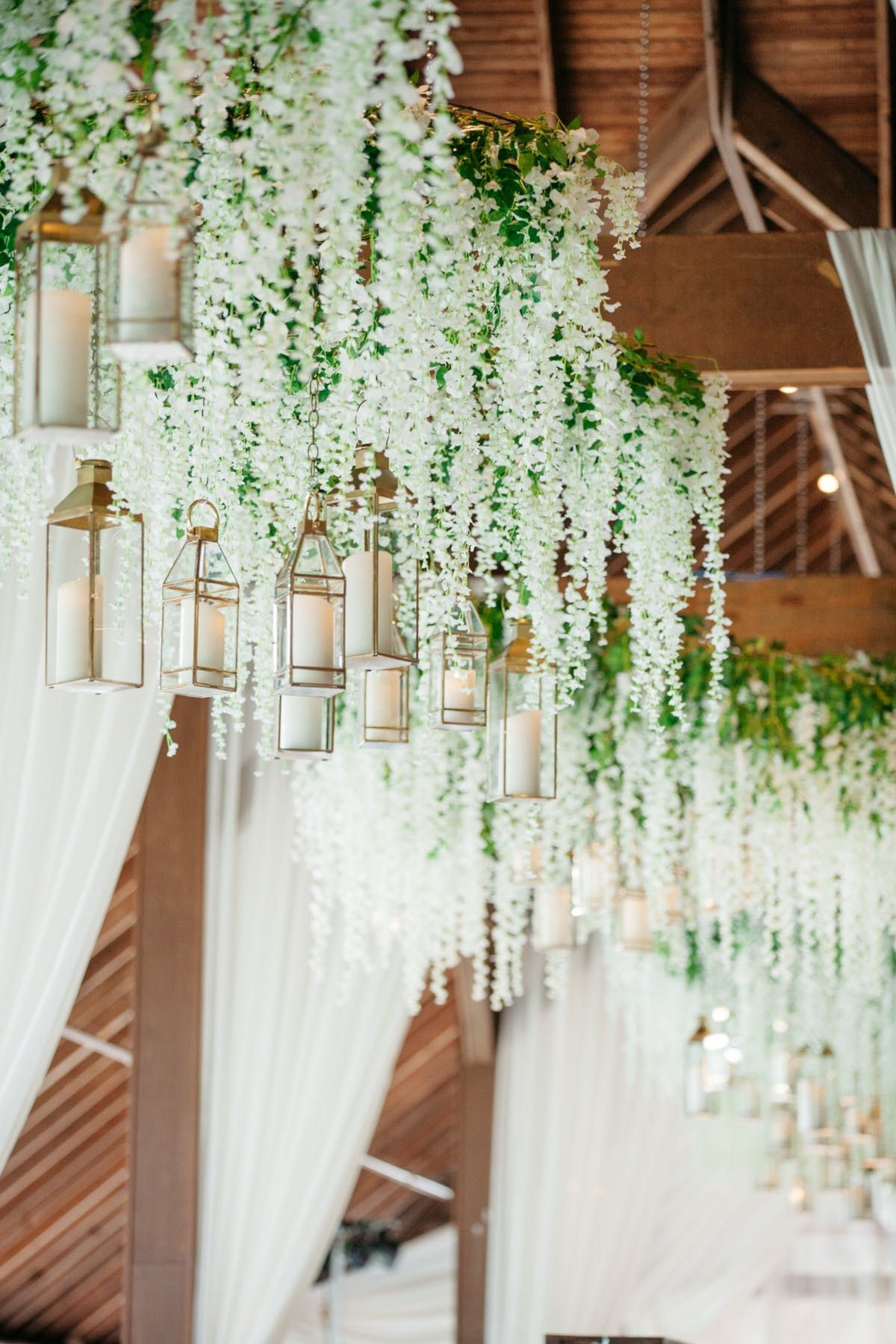 Gorgeous Ivory Florals And Greenery For Indoor Rustic
