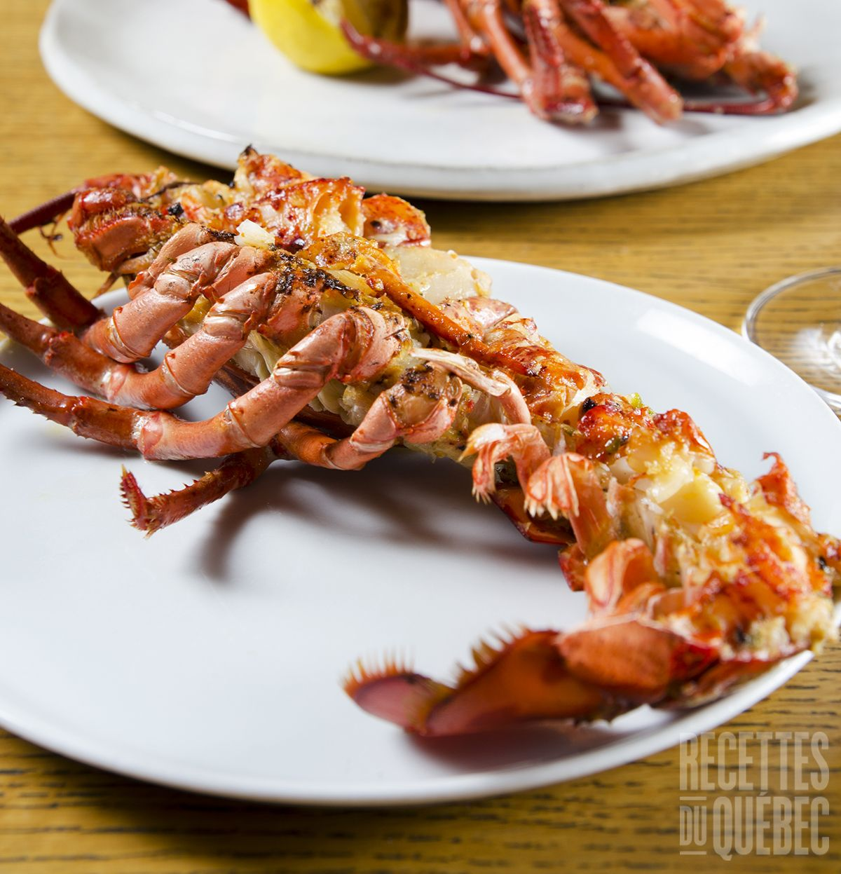 Salade de homard grill e recettes du qu bec fruit de - Recette homard grille ...
