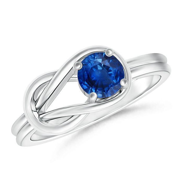 Angara Celtic Knot Shank Solitaire Black Diamond Ring in 14K White Gold JCva8KPAp