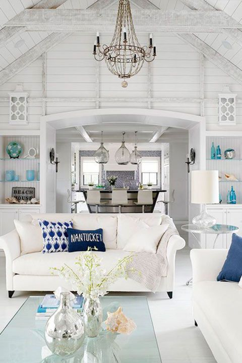 25 Chic Beach House Interior Design Ideas Spotted On Pinterest Coastal Living Rooms