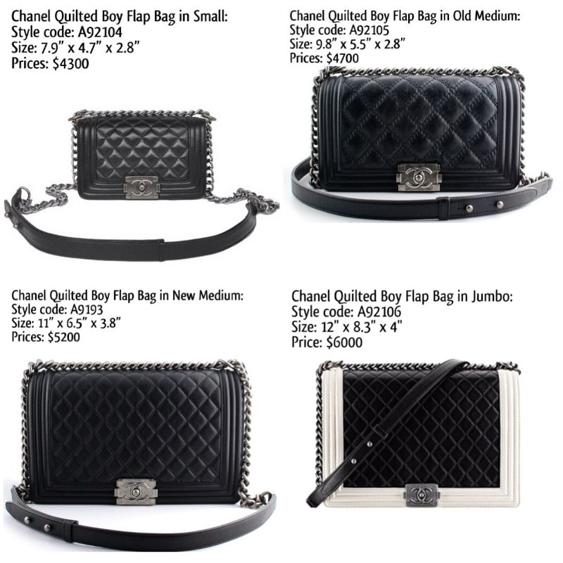 chanel boy bag sizes and prices my style pinterest. Black Bedroom Furniture Sets. Home Design Ideas