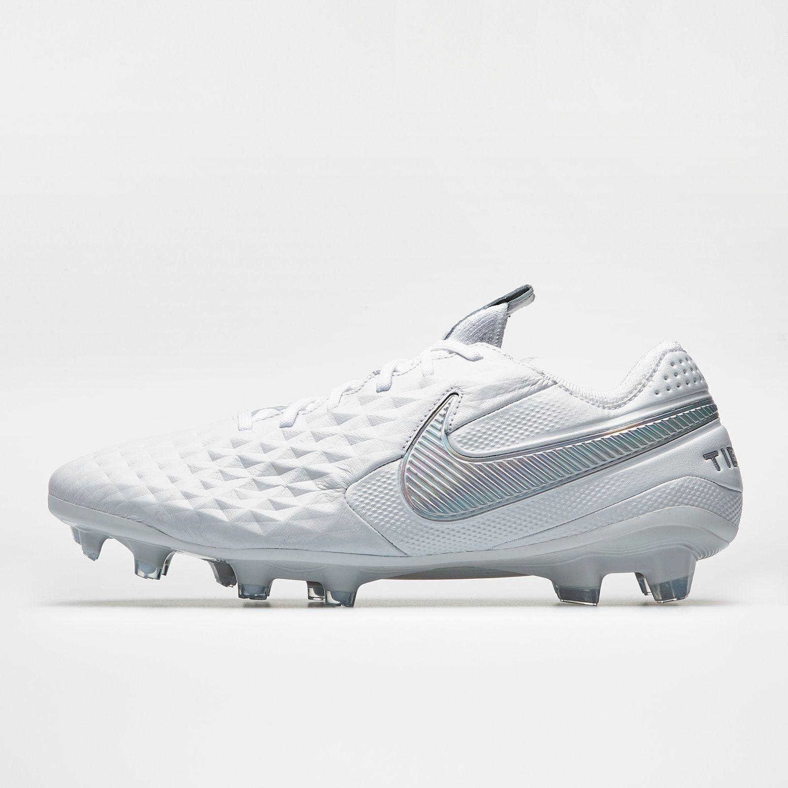 Nike Tiempo Legend Viii Elite Fg Nuovo White White Metallic Platinum Football Boots Mens Football Boots Football