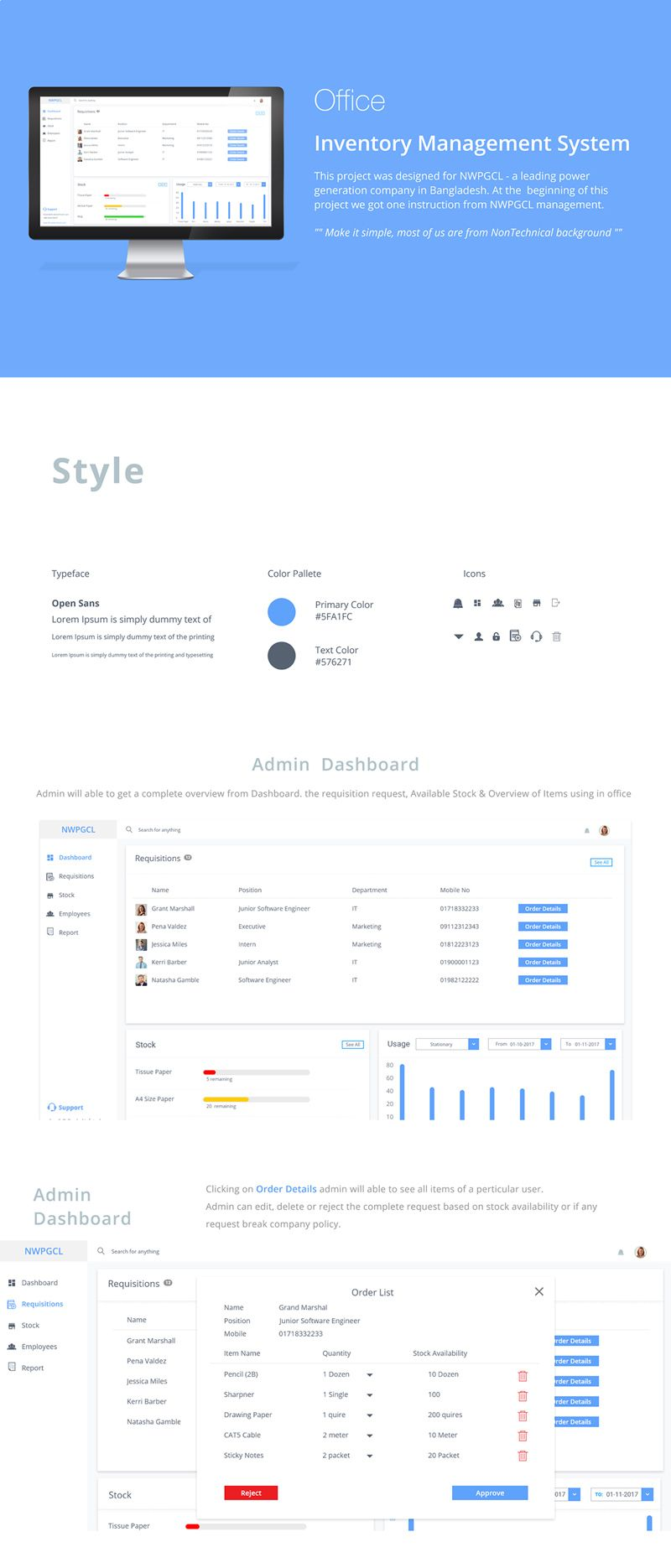Adobe XD Inventory management system dashboard template | Adobe XD ...