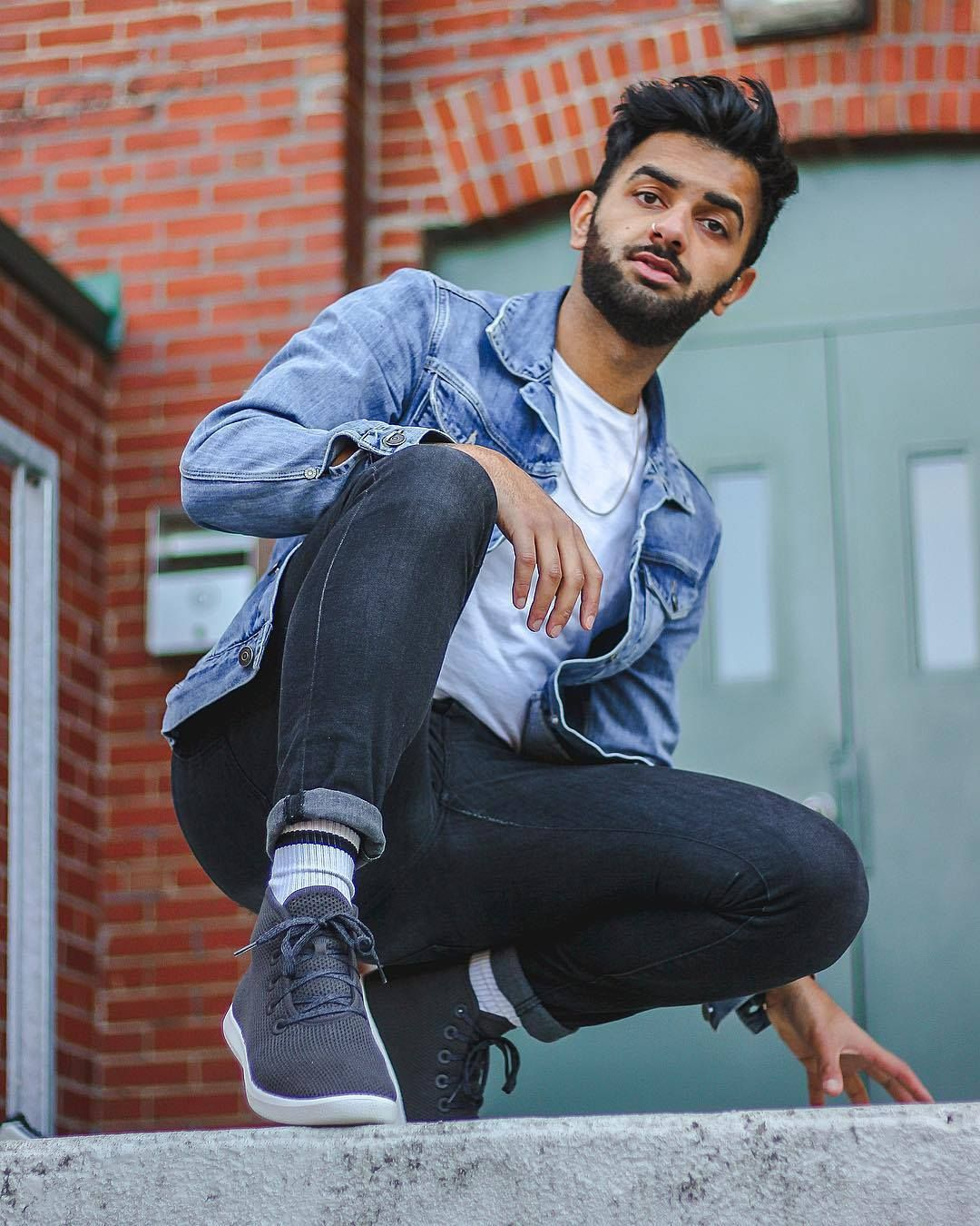 2e907d6b @omarahmed__ takes his Kauri Jo Tree Toppers to new heights with double  denim.
