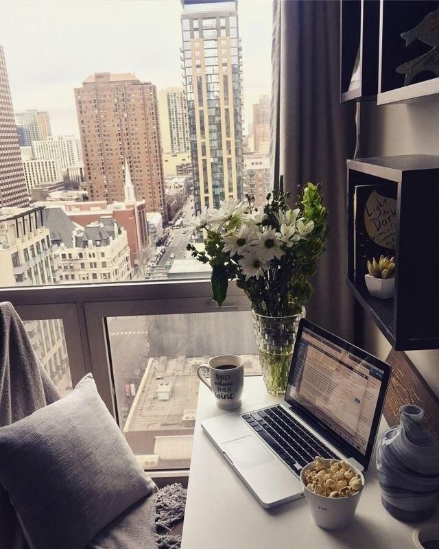 Cozy city office nook Check out desigedecors.com to get ...
