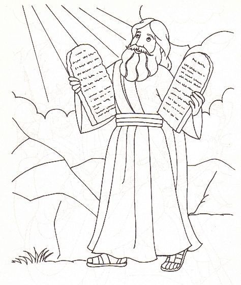Moses And The Ten Commandments Coloring Page Google Search
