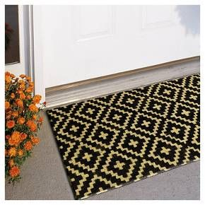 18\ x30\  Doormat - Crinkle Diamond Black - Threshold & 18\