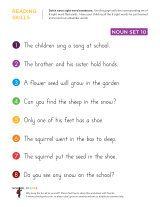 Kindergarten worksheets - Reading sight word sentences