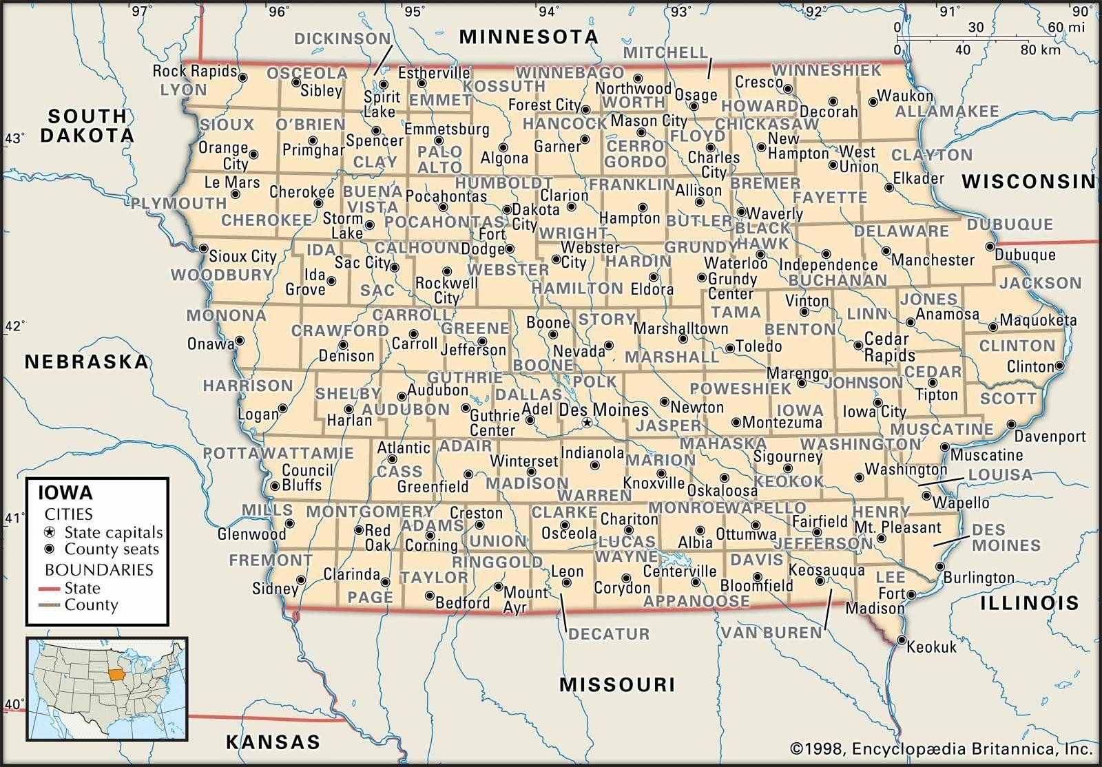 Pin By Erica Knudson On Iowa County Maps County Map Iowa County