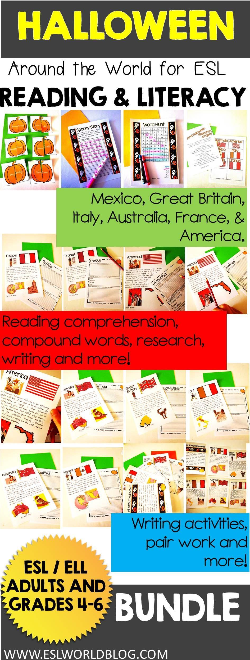 Halloween Around the World Reading and Literacy Activities