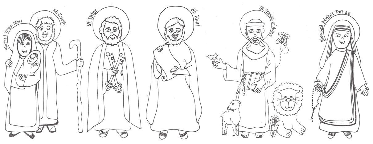 All Saints Day Coloring Page | Preschool Religion | Pinterest ...