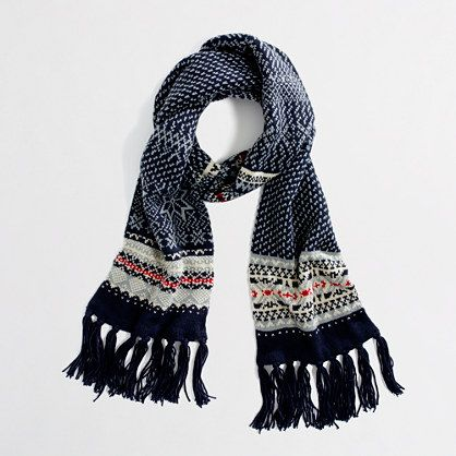 SNOWFLAKE FAIR ISLE SCARF | My Style Inspiration | Pinterest ...