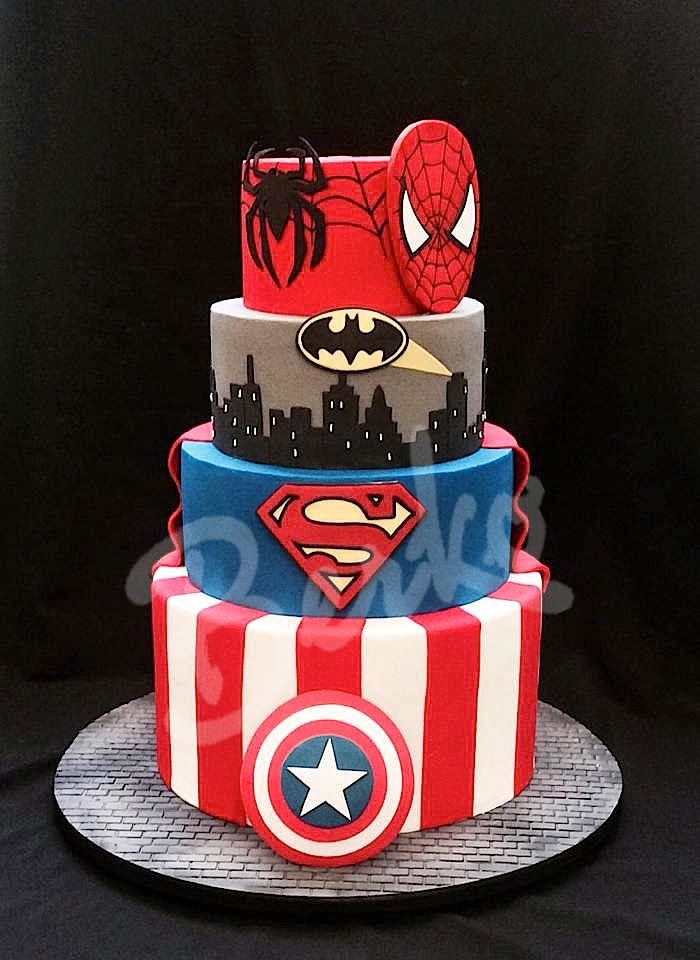 Berko Wedding cake Paris DC vs Marvel Comics Pinteres