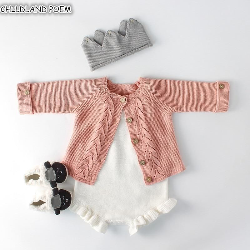 ❤️Newborn Baby Girls Clothes Knitted Sweater Romper Jumpsuit Bodysuit Outfit Set
