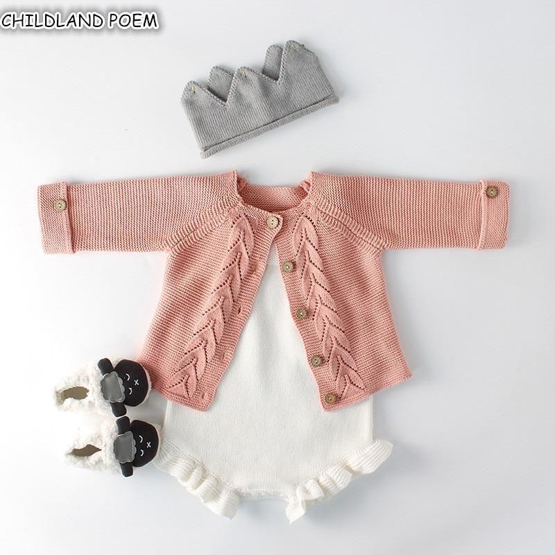 Newborn Baby Boy Fashion Clothing Infant Knitted Cardigan Toddler Cotton Jacket