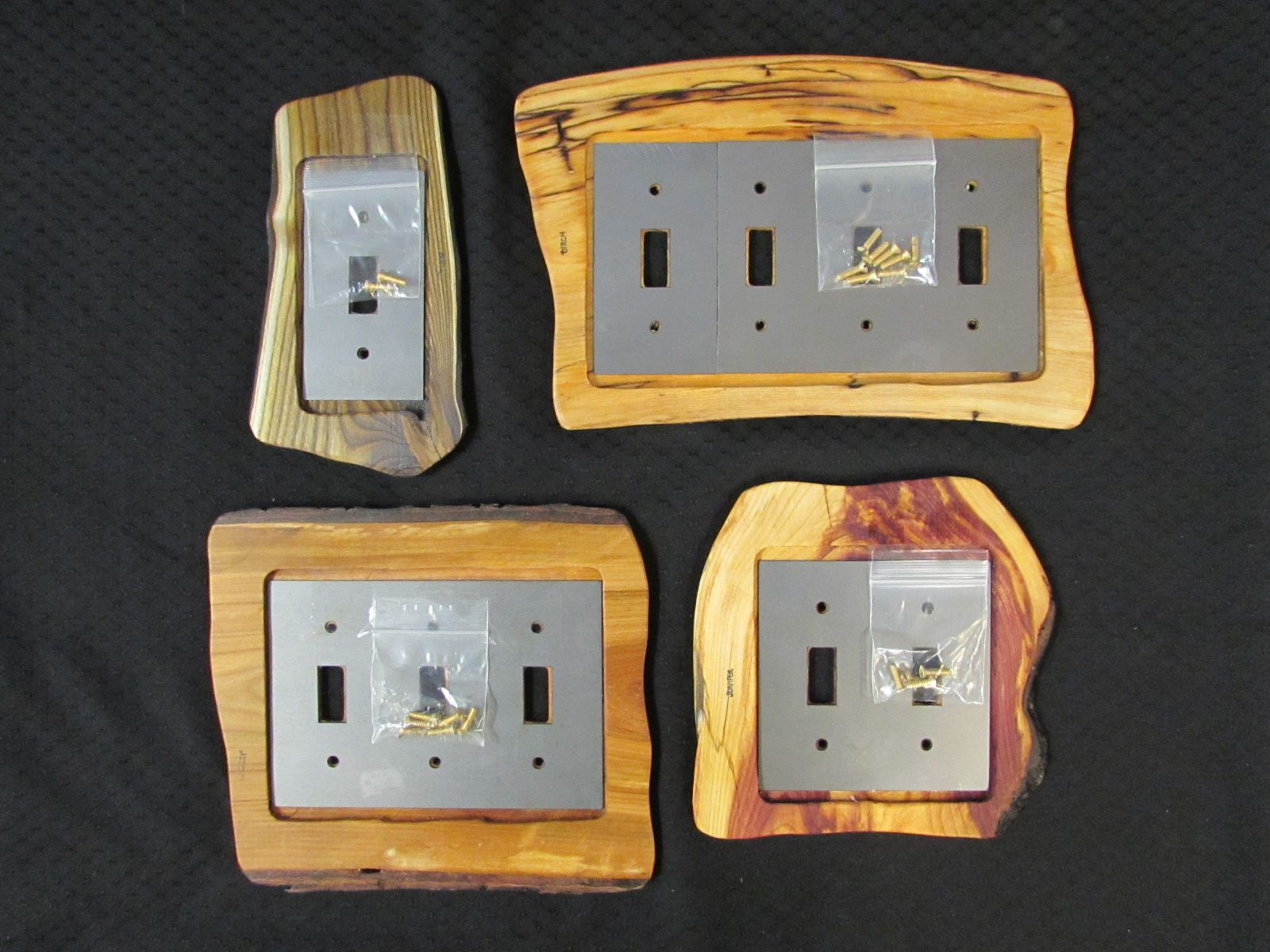 Rustic Wood Switch (Toggle) Plate Covers Wooden hinges