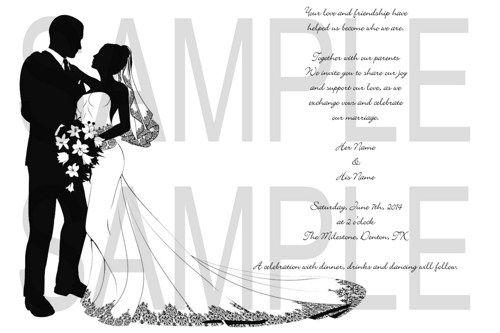 Bride and Groom Custom Personalized Wedding Invitaiton DIY Digital