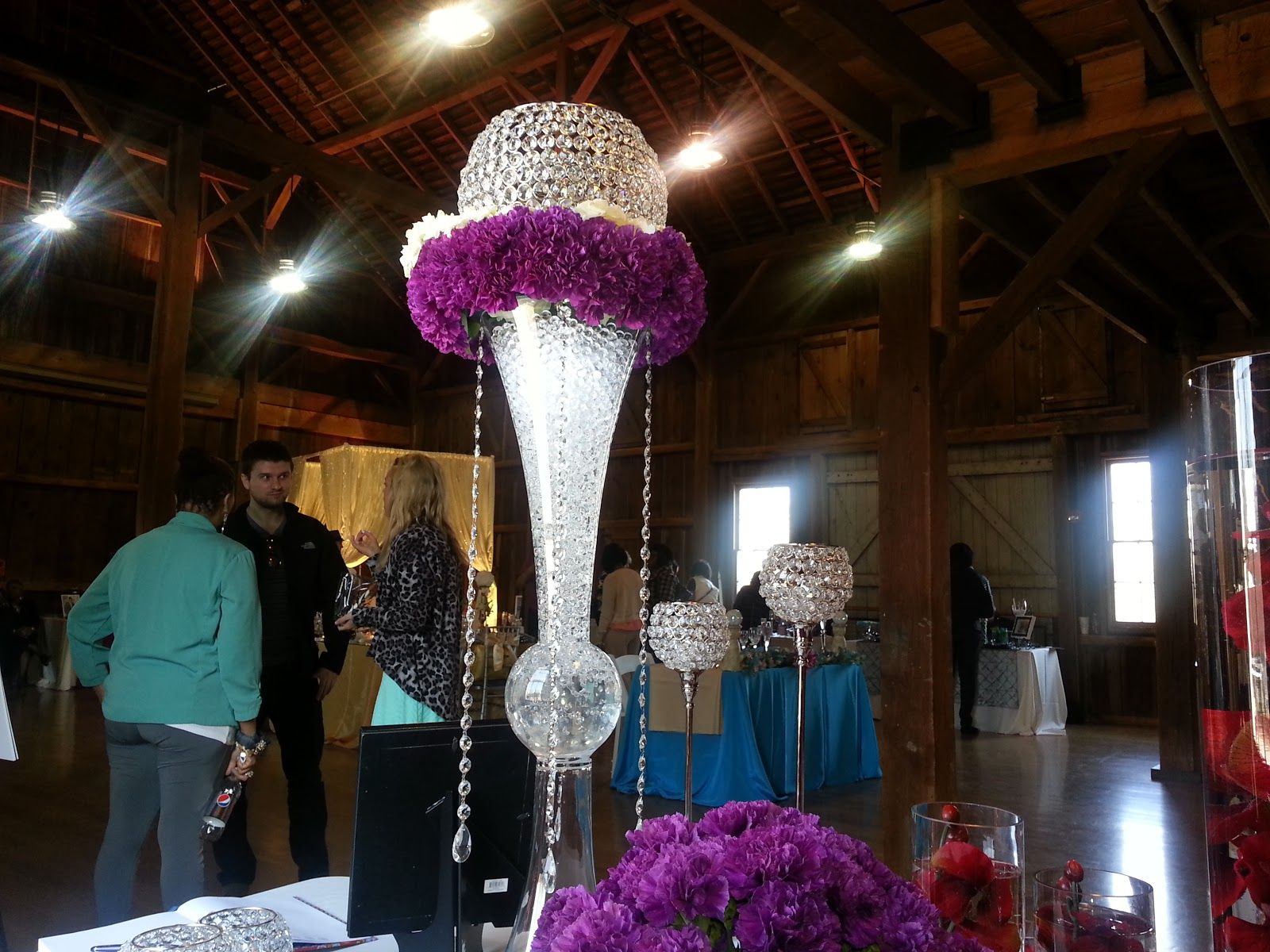 A Bride's B.F.F & New Inventory! Crystal centerpieces
