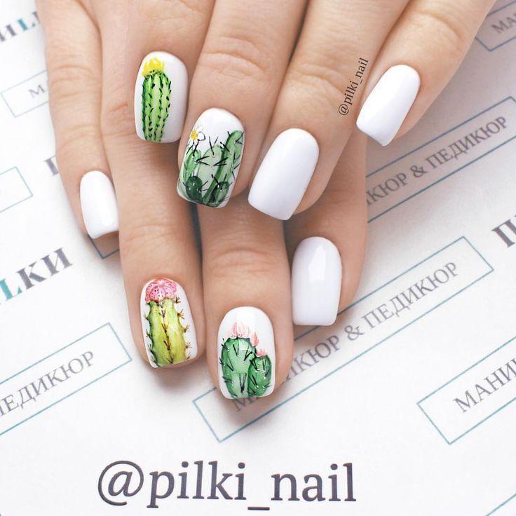 Cactus Nail Design Google Search Bright Nail Art Bright Nails Nail Colors