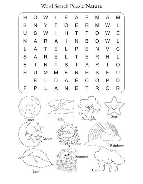 Word Search Puzzle Nature Download Free Word Search Puzzle Nature For Kids Best Coloring Pa Word Puzzles For Kids Kids Word Search Free Word Search Puzzles
