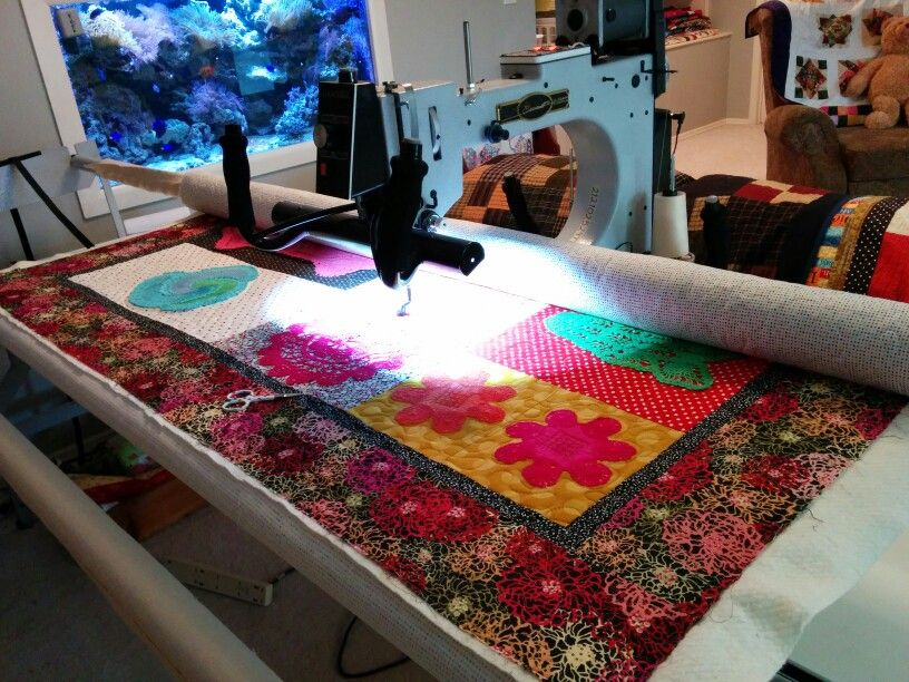 Borders on...quilting begins