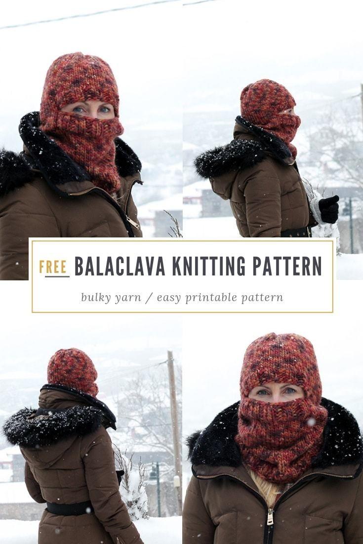 Balaclava Pattern {Bulky Knit }   Knitting patterns for ...