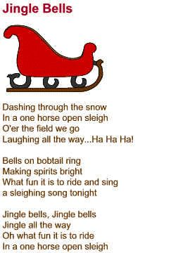 Jingle Bells Lyrics Short Version Christmas Carols Lyrics Christmas Songs Lyrics Christmas Lyrics