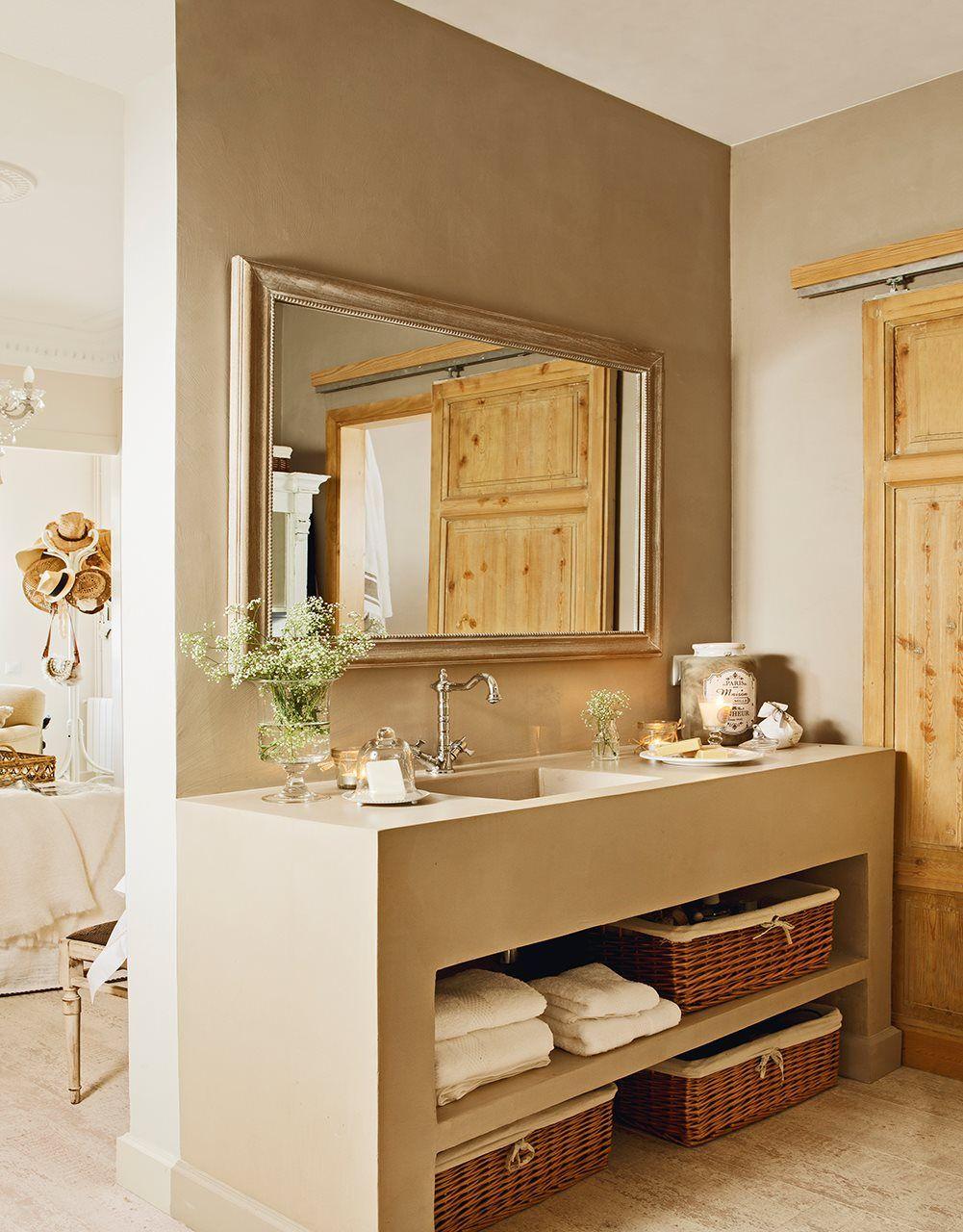 Ba o ba os ba os cuarto de ba o y espejos para ba os for Gabinete de almacenamiento de bano de madera