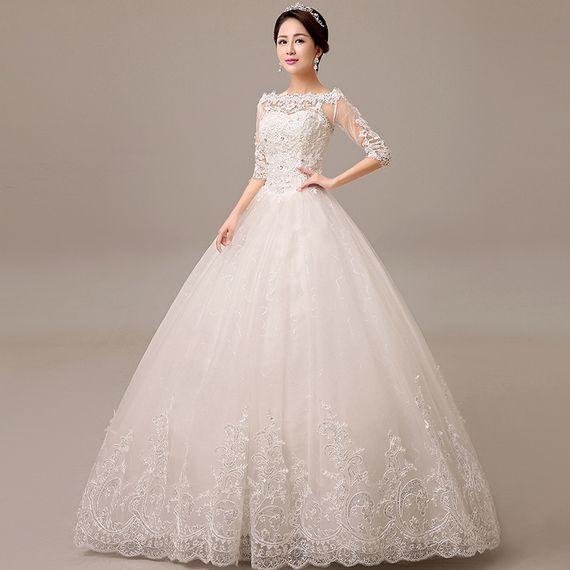 Long Sleeved Wedding Dress 2017 New Summer Korean Bride Married New