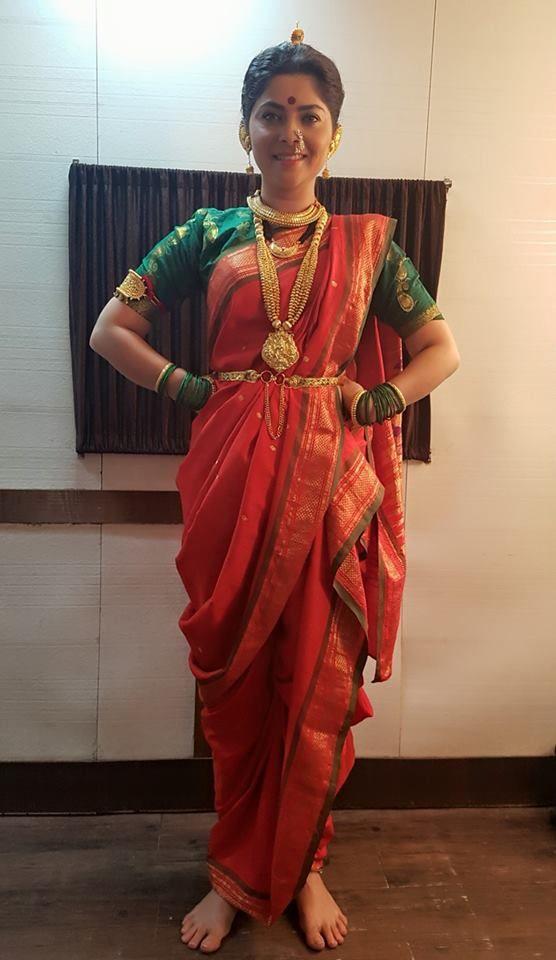 Sonalee Kulkarni Nauvari Saree Kashta Saree Saree Styles