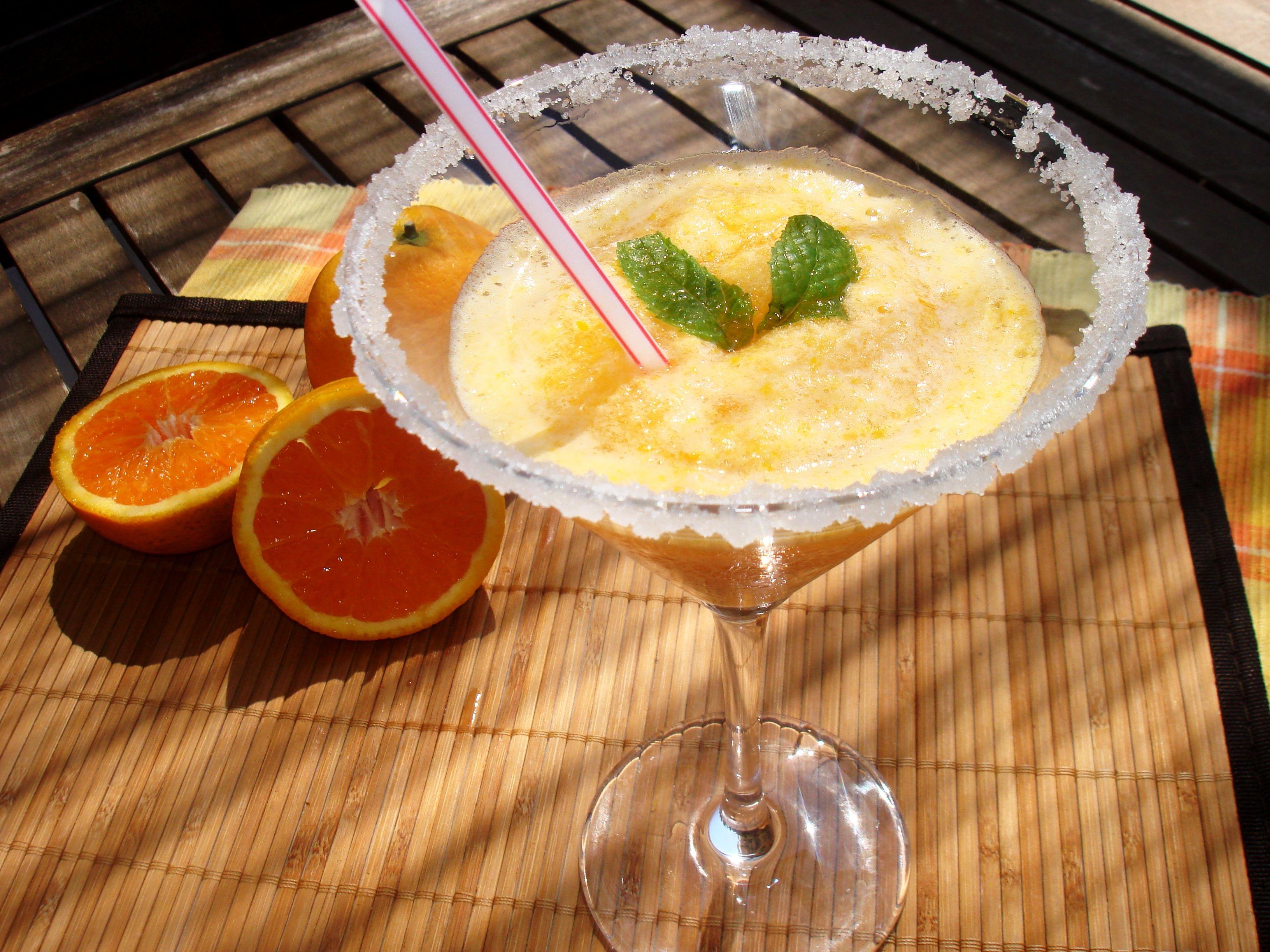 Sorbete de naranja (sin lactosa)