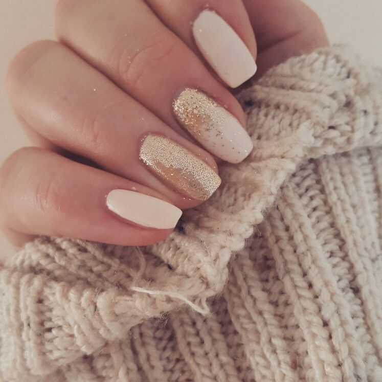 Nude and rose gold nails. #nails #rosegold #nude #pink #chunkyjumper ...