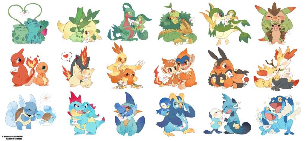 Image result for all pokemon starters pokemon pinterest image result for all pokemon starters altavistaventures Choice Image
