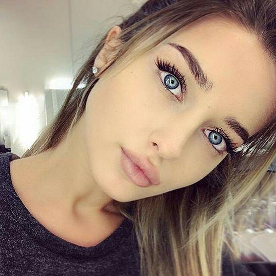 welche haarfarbe passt zu blauen augen? #hairstyles #