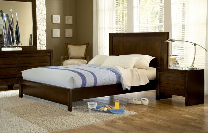 Contempo Contemporary Platform Bed King Size Bedroom Sets