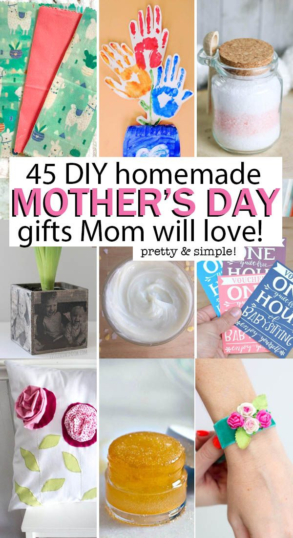 45 Creative DIY Mother's Day Gifts Mom Will Love!