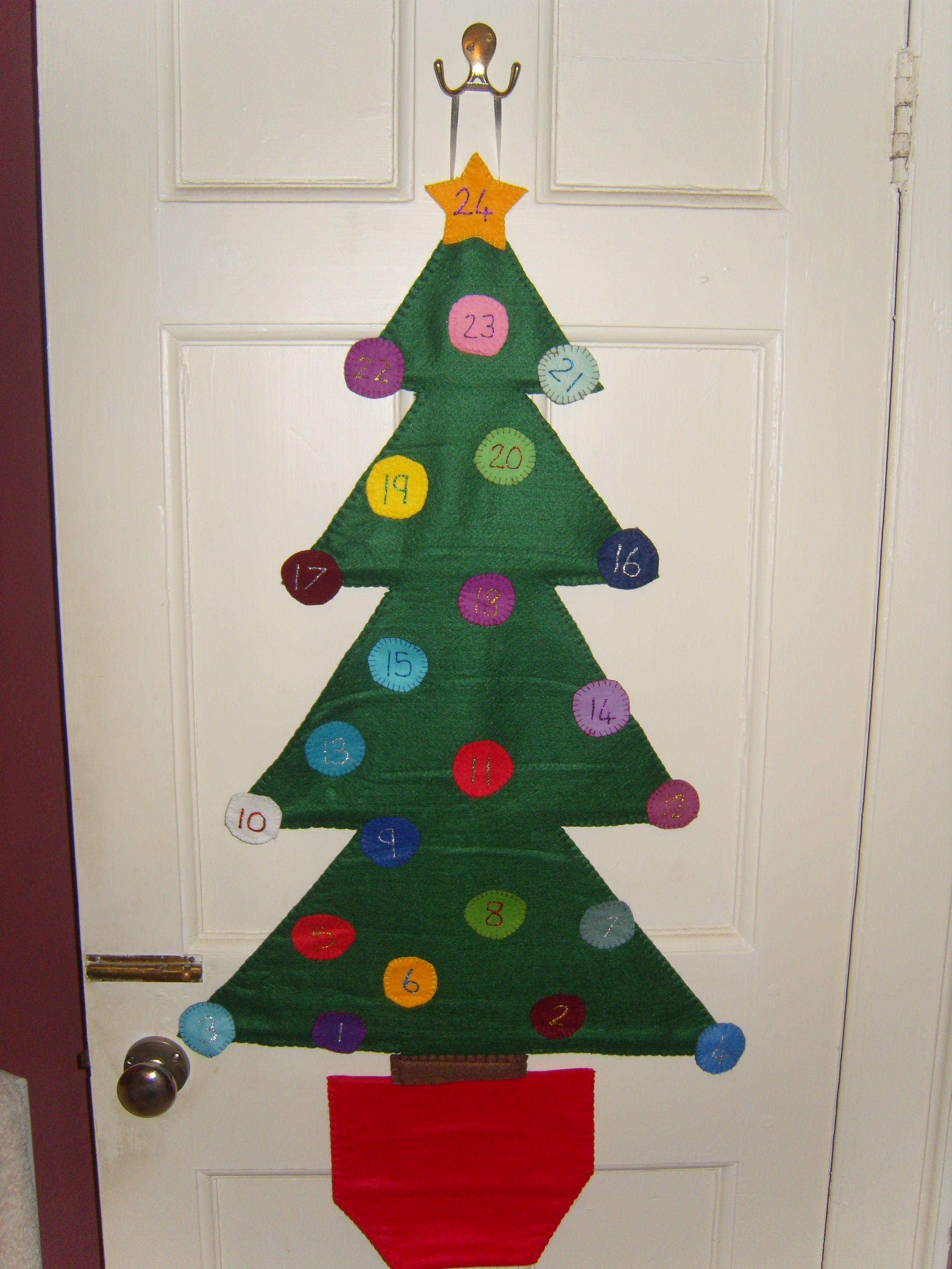 Felt Christmas Tree Advent Calendar I Made For My Twins