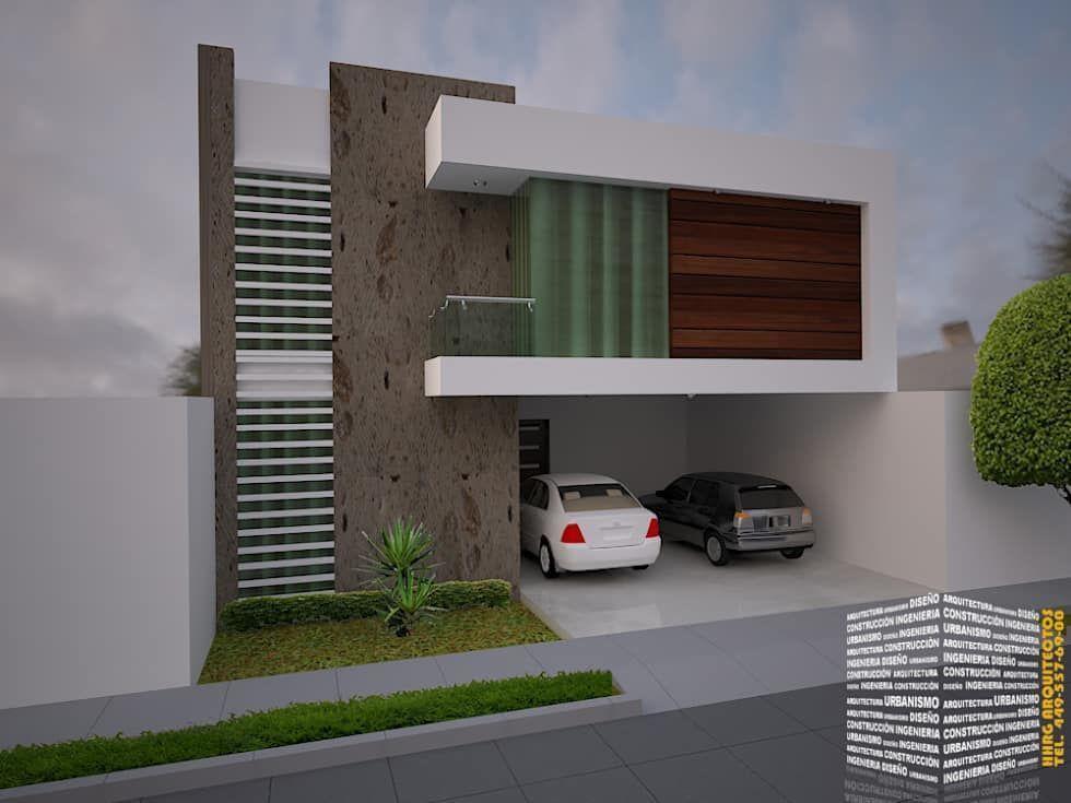 fachada con balc n lateral casas de estilo minimalista