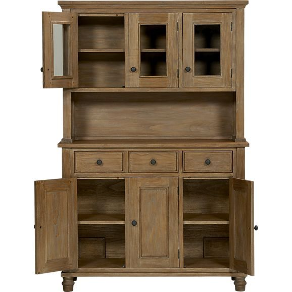 Kipling Grey Wash Buffet with Hutch Top in Dining, Kitchen Storage | Crate and Barrel