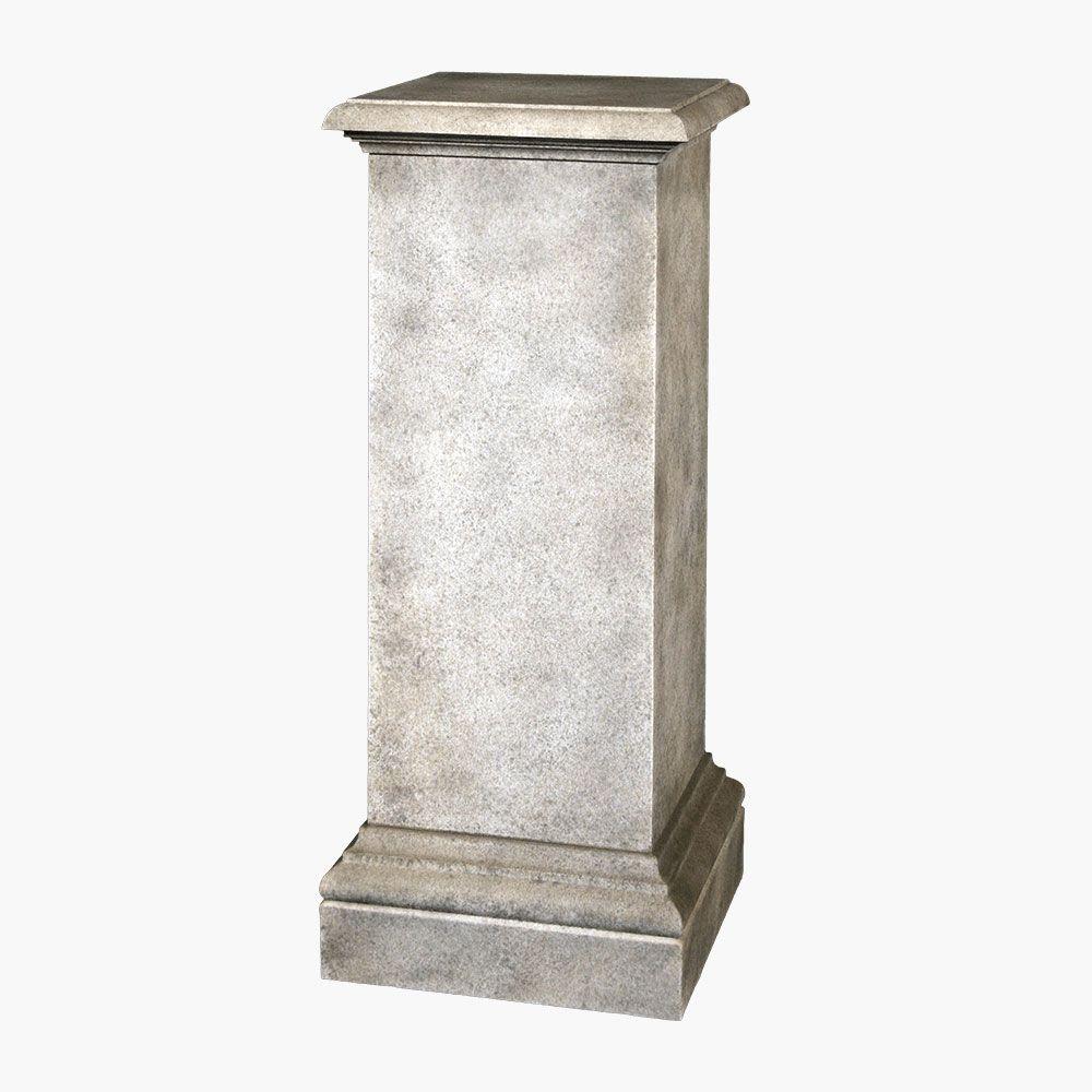 Kensington Concrete Pedestal Plant Stand Sculpture Stone